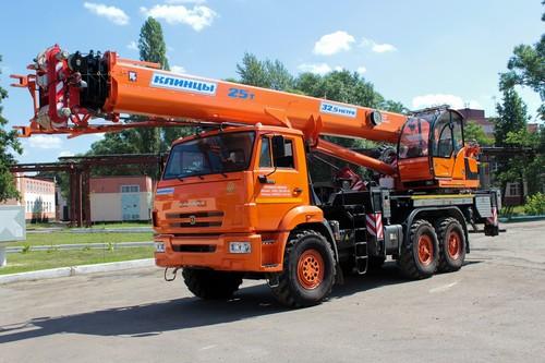 Автокран Клинцы КС-55713-5К-4В на КамАЗ 43118 (Овоид), 25 т, 32 м