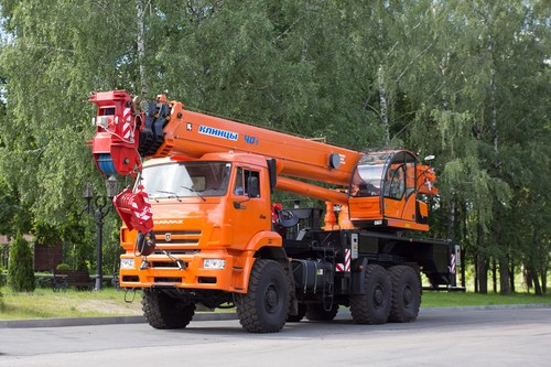 Автокран Клинцы КС-65719-5К на КамАЗ 65222 (Овоид), 40 т, 34 м