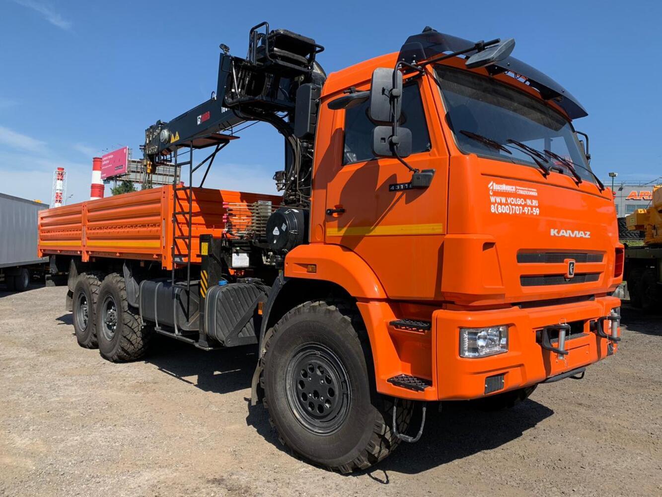 Продается КАМАЗ-43118 с КМУ hiab 160TM-6