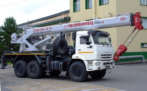 Автокран Челябинец КС-45734-19 на КАМАЗ-43118 6x6, 16 т, 19 м