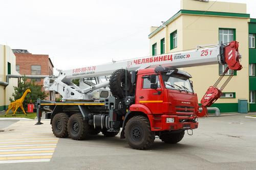 Автокран Челябинец КС-55732-21 на КАМАЗ-43118 6х6, 25 т, 21 м