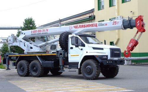 Автокран Челябинец КС-55732-21 на Урал NEXT 6х6, 25 т, 21 м