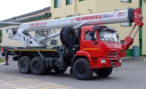 Автокран Челябинец КС-55732-28 на КАМАЗ-43118 6х6, 25 т, 28 м