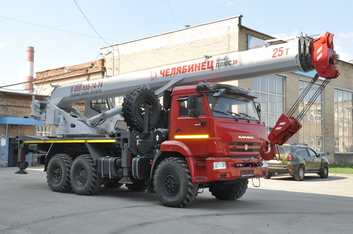 Автокран Челябинец КС-55732-33 на КАМАЗ-43118 6x6, 25 т, 33 м