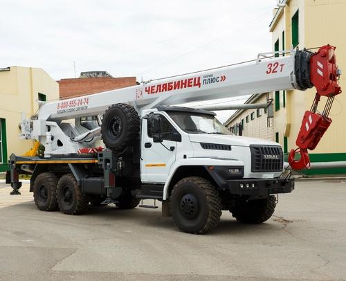 Автокран Челябинец КС-55733-33 на Урал NEXT 6x6, 32 т, 33 м