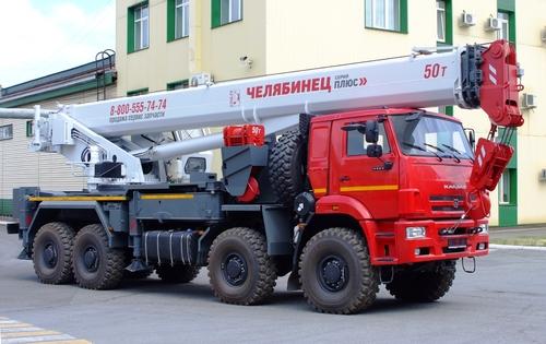 Автокран Челябинец КС-65717-34 на КАМАЗ-6560 8х8, 50 т, 34 м