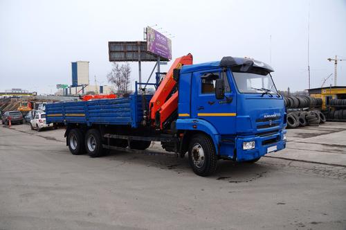 КАМАЗ-65117 с КМУ Palfinger PK 15500