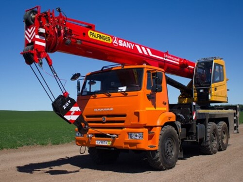Автокран Palfinger Sany КС5572А-241 25 т, 32 м, 6х6