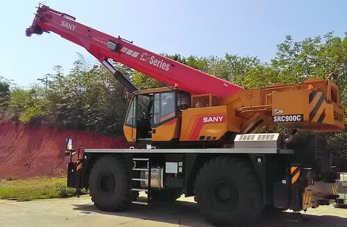 Короткобазный кран Palfinger Sany SRC900C 90 т, 47 м