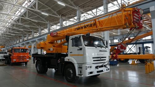 Автокран Ивановец КС-35714К-3 на КАМАЗ-53605 4х2, 16 т, 19 м