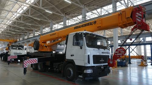 Автокран Ивановец КС-45717А-1Р на МАЗ-6312 6х4, 25 тонн, 31 метр