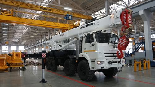 Автокран Ивановец КС-55735-7 на КАМАЗ-63501 8х8, 35 т, 30 м