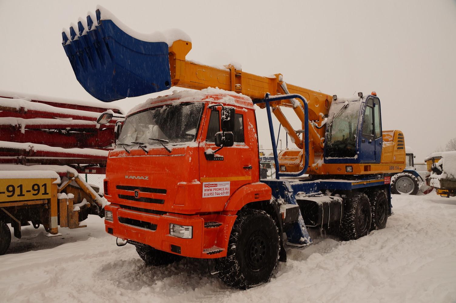 UDS 114 на шасси КамАЗ-43118 - Экскаватор-планировщик