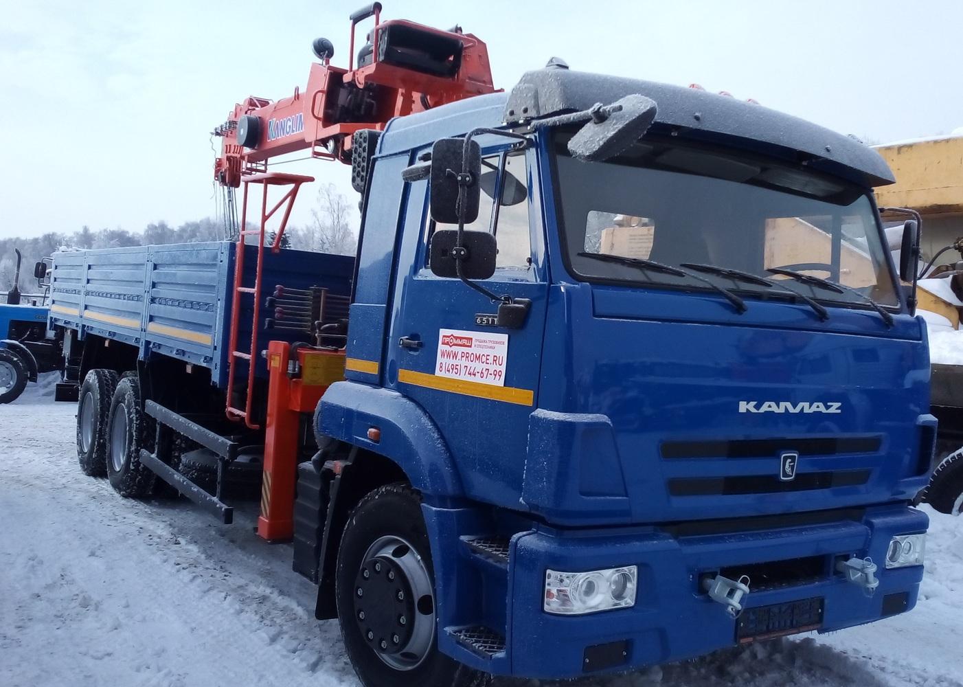КМУ Kanglim KS1256G-II на шасси Камаз 65117
